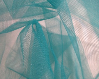 "JN00573 Teal C39 Tulle 100% Polyester Quality High Fashion Craft Home Decor 54""Salvage Ship Wt. 1 Lb 24"" x 11"" x 2""By The 40 Yard Bolt"