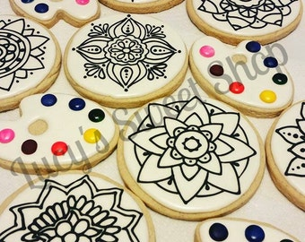 Paint Your Own Mandala Cookies