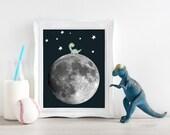 PRINTABLE.Moon Dinosaur. ...