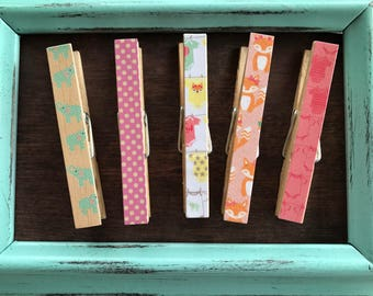Baby Girl Baby Shower Clothes Pins - Set of 5