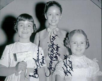 a Rare and Wonder photo autographed by 3 cast members from the Sound of Music - Debbie Turner Angela Cartwright Kim Karath signed autograph