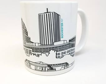 Rochester NY Skyline Coffee Mug