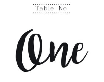 Wedding Table Numbers, Printable - 25 Count, 5x5 with tent option