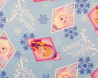 Disney Frozen Sisters Forever Jersey Fabric
