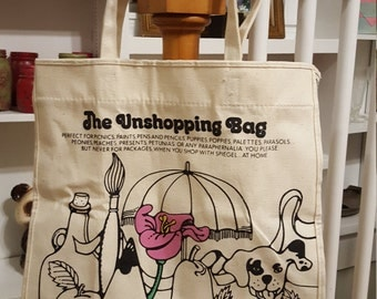 Spiegel Unshopping Department Store Canvas Tote Bag