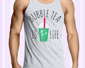 Bubble Tea Is Life men tank