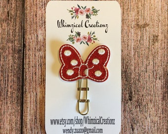 Mrs. Mouse Bow Planner Clip