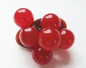 Vintage 1940 Carved Bakelite Log Dangling Cherry Brooch Brooch/Pin Bakelite Pin Cherry Pin