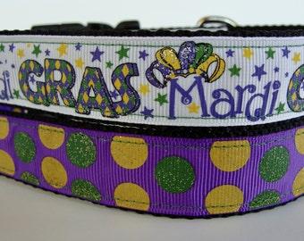 Mardi Gras Glitter Dog Collars - READY TO SHIP!