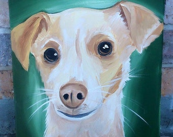 Custom Painted Pet Canvases