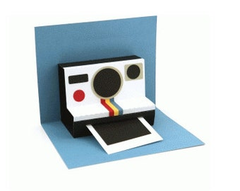 Instant Camera Pop Up 3D Card , Photo , Retro , Customize , Men , Women , Teen , Kids , All Occasions