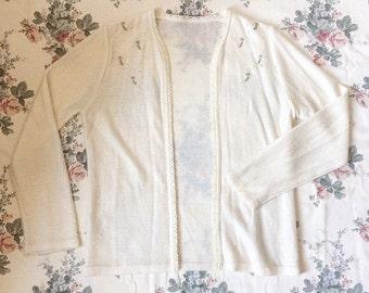 SALE Vintage Dainty Floral Cardigan size S/M
