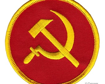 COMMUNIST Hammer and Sickle Patch USSR CCCP Russia Soviet Union embroidered shoulder emblem