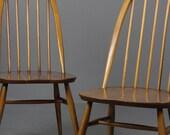 Pair Ercol Quaker Dining Chairs
