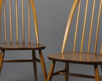 Pair Ercol Quaker Dining Chairs