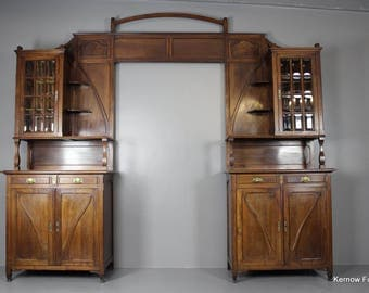 Art Nouveau Walnut Door Surround