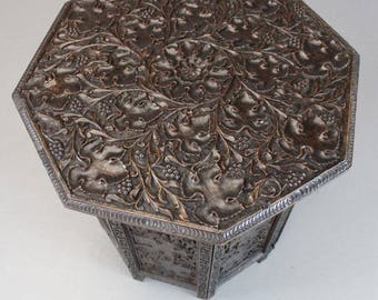 Octagonal Carved Indian Table