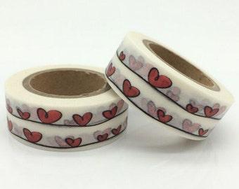 SALE!!Heart Shape Washi Tape/Deco Masking Tape/Planner Sticker/ Deco tape TZ1470