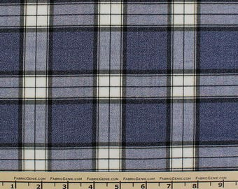 "Large Tartan Plaid Stretch Suiting Fabric ""HVNX3P-F073365"""
