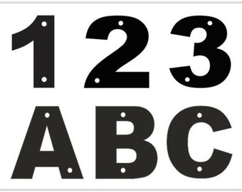 Acrylic Address Door, House, Garage Number/Letter