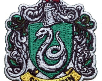 Harry Potter House of SLYTHERIN Crest Applique 2.75 inch Iron on Patch