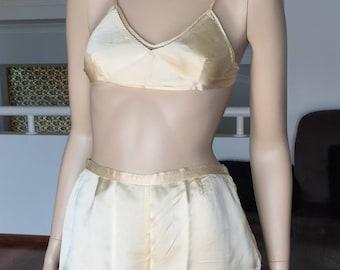 6 Piece Flapper Pure-silk-lingerie-wedding-trousseau-set-and-pyjamas-1930s