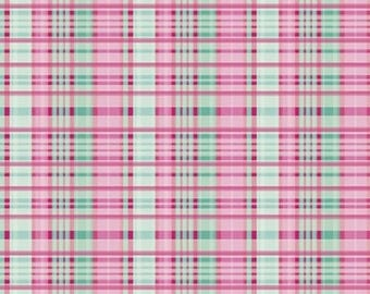 Primavera Pink Plaid from Riley Blake by the yard