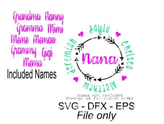 nana monogram svg gigi monogram svg mamaw monogram arrow