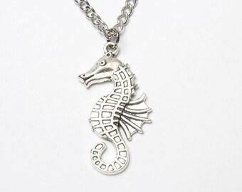 Sea Horse Necklace, Seahorse Pendant, Seahorse Charm Necklace, Sea Horse Charm, Initial Necklace, BFF Necklace, Seahorse Pendant Necklace