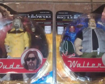 Vintage THE BIG LEBOWSKI The Dude & Walter Urban Achiever Action Figure Series One Mint