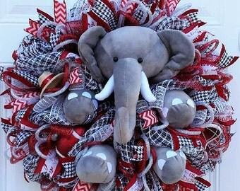 Big AL Football Wreath  -  Bama Football Wreath  -  Alabama Football Wreath - Roll Tide Wreath - Crimson Tide Wreath - Collegiate Wreath