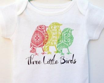 Reggae Onesie / Bob Marley Clothes / Reggae Baby Onesie  / Rasta Onesie / Three Little Birds / Red Yellow Green