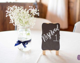 Wedding Table Signs | Chalkboard Calligraphy Sign | Table Chalkboard Easel | Customizable