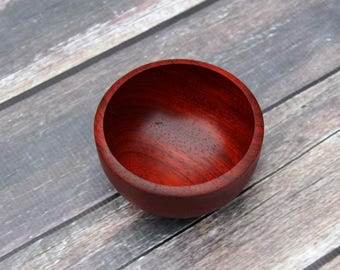 Padauk Wood Bowl, Hand Turned Small Wooden Bowl, Perfect for your Small Treasures, Handmade Wood Ring Bowl, Beautiful African Padauk Wood