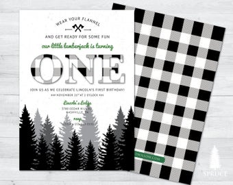 lumberjack first birthday, lumberjack baby shower, lumberjack first birthday invitation, lumberjack birthday, lumberjack baby shower invite