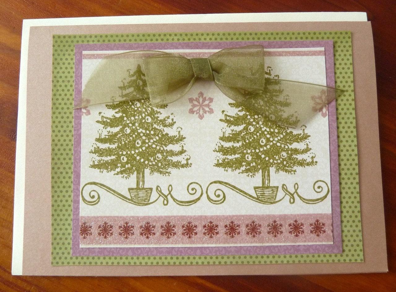 Christmas Card Handmade Christmas Card 5x7holiday Card Pretty