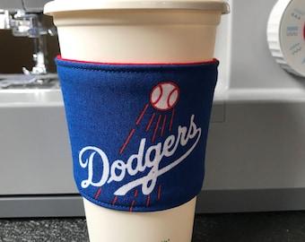Coffee Cozy, Dodger Drink Cozy, Drink Cozy, Tea Cozy, Hot Chocolate Cozy, Drink sleeve, cup sleeve, Los Angeles Dodgers Drink sleeve