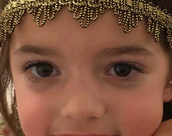 Custom baby gold headband and cuff