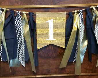 Navy and Gold High Chair Banner