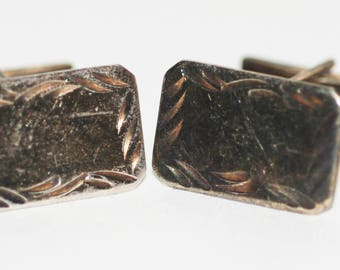 Sterling Silver 1950s era Cuff Links -- Free Shipping!