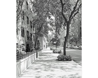 New York Photography Print, Black White Photo, Vertical Wall Art, Greenwich Village, Street Photograph, New York City, NYC Photography,