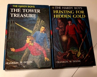 Two Vintage HARDY BOYS BOOKS by Franklin W. Dixon #1 & #5