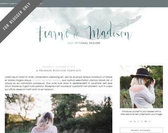 Blogger Template - Mobile Responsive & Dropdown Menu - INSTANT DOWNLOAD - Fearne Madison Theme