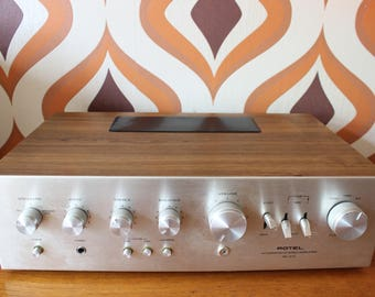 Rotel RA312 stereo hi-fi amplifier teak audio vintage retro 1970s