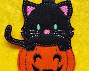 Cat on a Pumpkin Planner Band