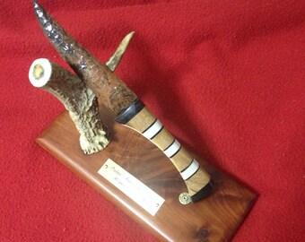 Mahogany Obsidian Knife with Custom Handle