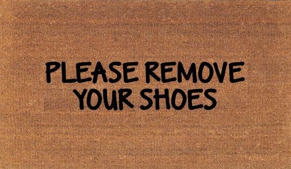 Please remove your shoes door mat coir doormat rug 2 39 - Remove shoes doormat ...