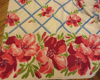 vintage fabric with flowers