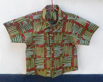 African Wax 'Match Me' Boys Shirt