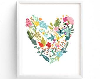 Heart, Printable Wall Art Prints, Printable Art, Wall Art, Instant Download Print,